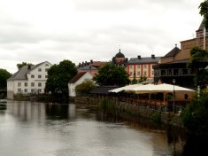 "more fyris river. the sharpeyed recognizes the bishop's house from the Ingmar Bergman movie ""Fanny and Alexander"""